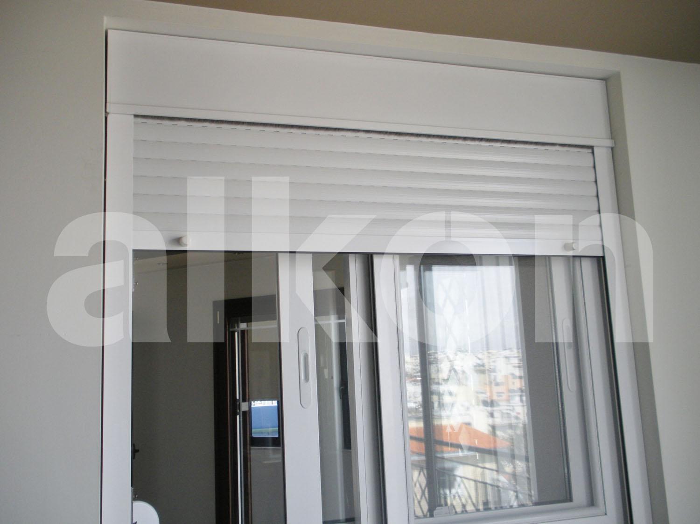 Alumunium roller shutters - Electric window shutters interior ...